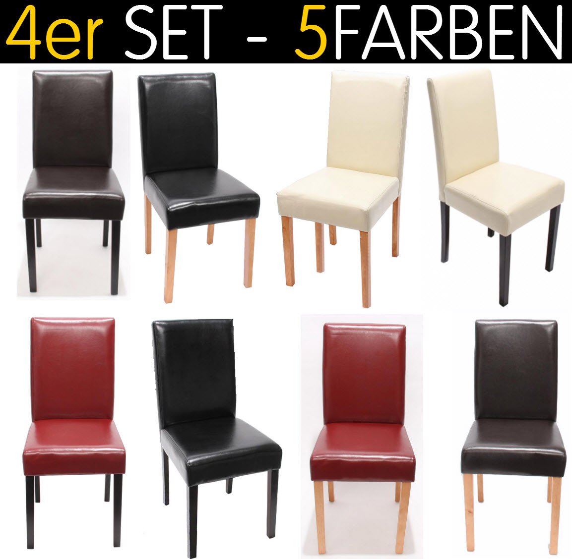 4x esszimmerst hle stoff 4er set esszimmerstuhl lehnstuhl stuhlset massiv st hle ebay. Black Bedroom Furniture Sets. Home Design Ideas